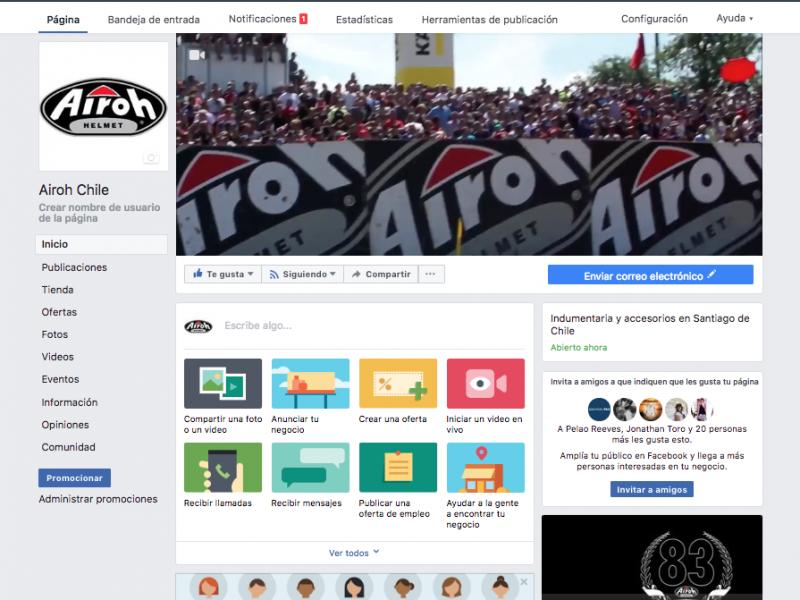 Fanpage Airoh Chile