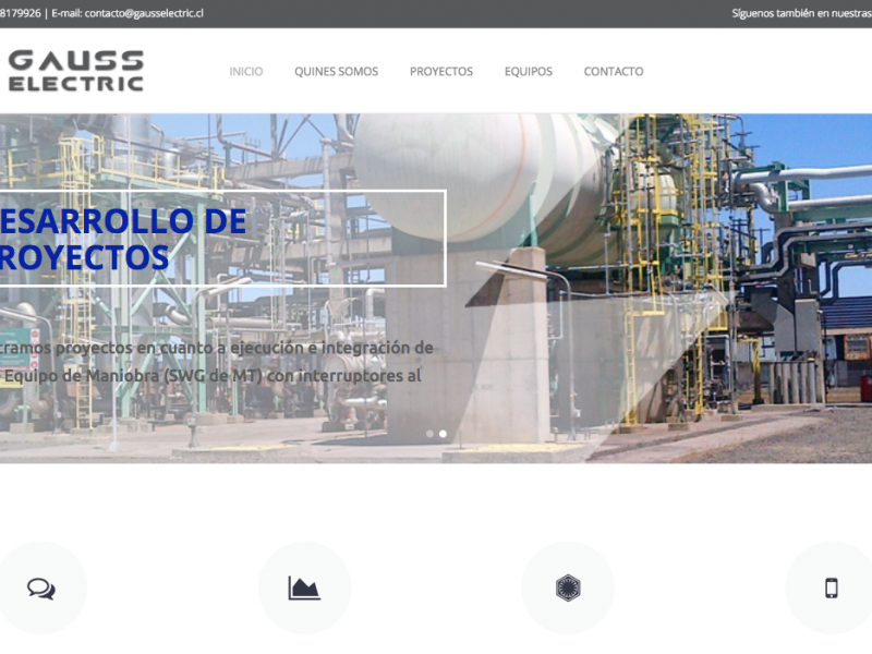 Sitio Web Gauss Electric