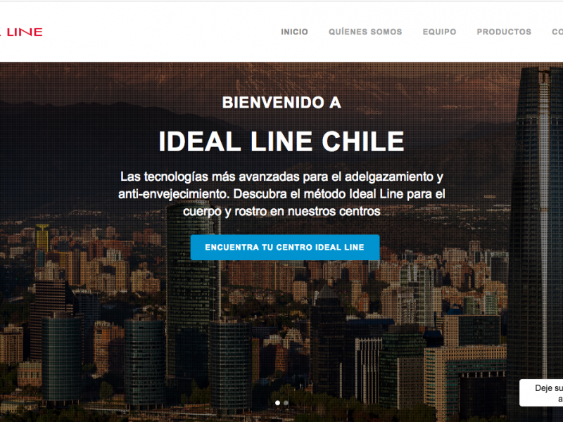 Sitio Web Ideal Line Chile