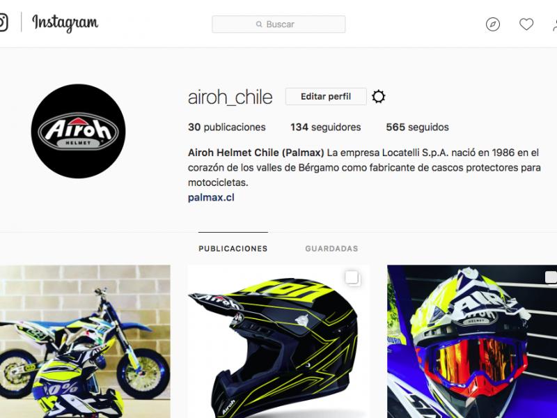 Instagram Airoh Chile