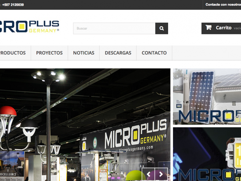 Sitio Web eCommerce MicroPLUS