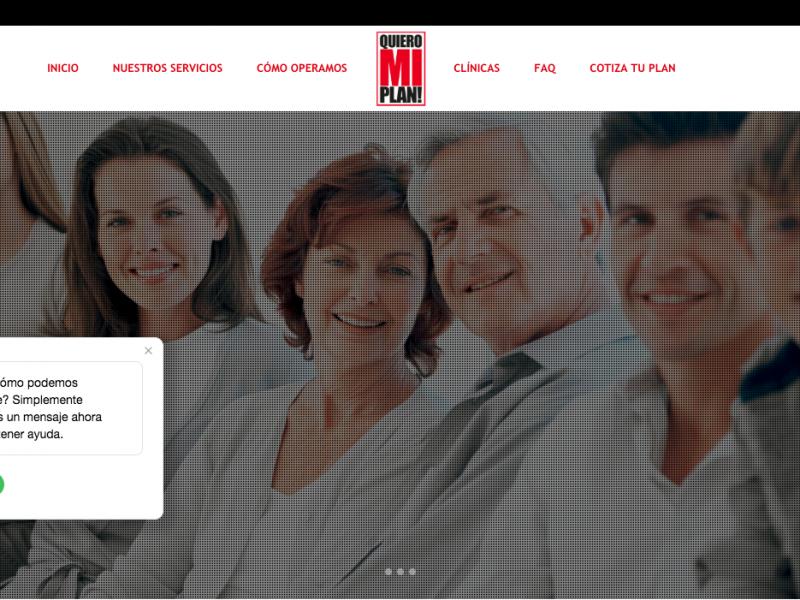 Sitio Web One Page Quiero Mi Plan
